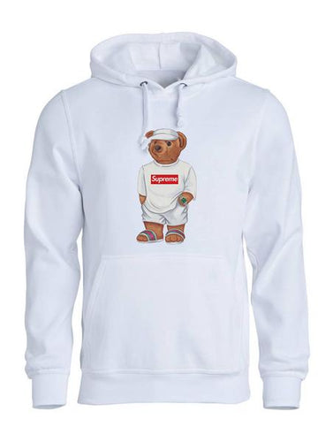Calvin The Bear -White Supreme hoodie