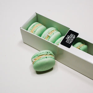 Raya Tea and Macarons Gift Set - Artisan Pastry Box, Macaron, Profiteroles, Petit Gateau, Eclair, Valentine's chocolate, Truffle, Chocolate, Little Black Pastry Box
