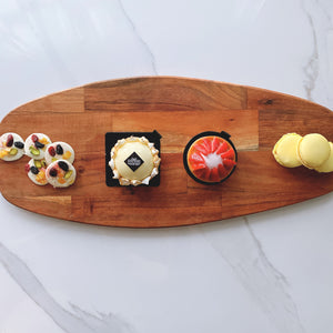 The Pina Colada Twist - Artisan Pastry Box, Macaron, Profiteroles, Petit Gateau, Eclair, Valentine's chocolate, Truffle, Chocolate, Little Black Pastry Box