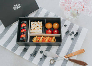 A Summer Fling - Artisan Pastry Box, Macaron, Profiteroles, Petit Gateau, Eclair, Valentine's chocolate, Truffle, Chocolate, Little Black Pastry Box