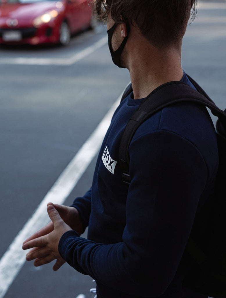 Mens Crew Neck Jumper - Navy