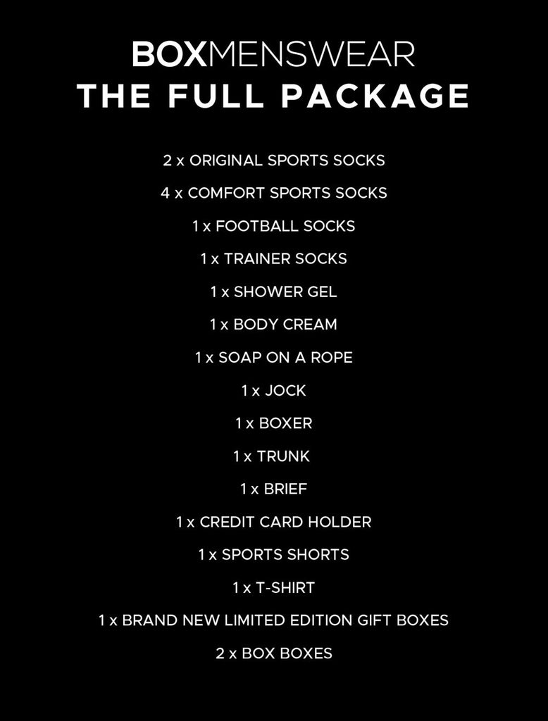 Box Giftbox Grey T Shirt Sport Socks Trainer Socks Lux Socks Card Holder Body Wash Body Cream Red Boxers