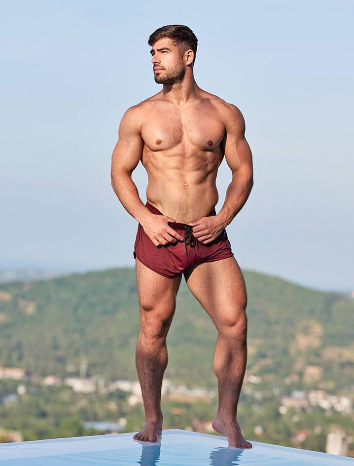 Swimming Shorts - Burgundy