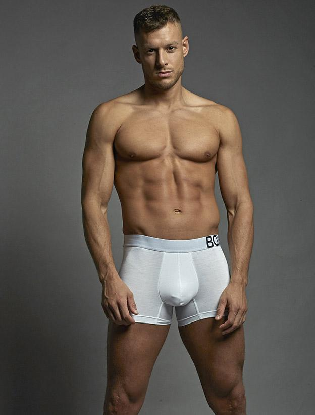 King Fit White Short Leg Boxers Double Regular  Crotch Bulge boxer shorts briefs