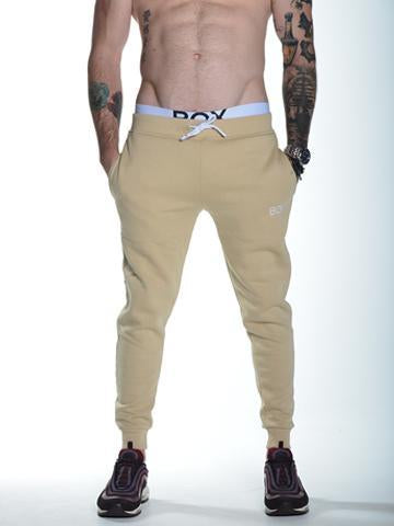 Slit Fit Fleece Joggers Stone Super Soft Bulge