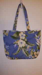 Blue Tropical Floral Handbag