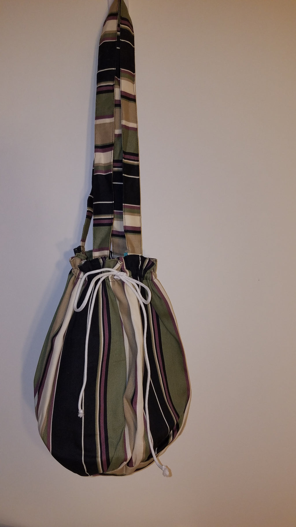 Multi-Colored Striped Shoulder Handbag