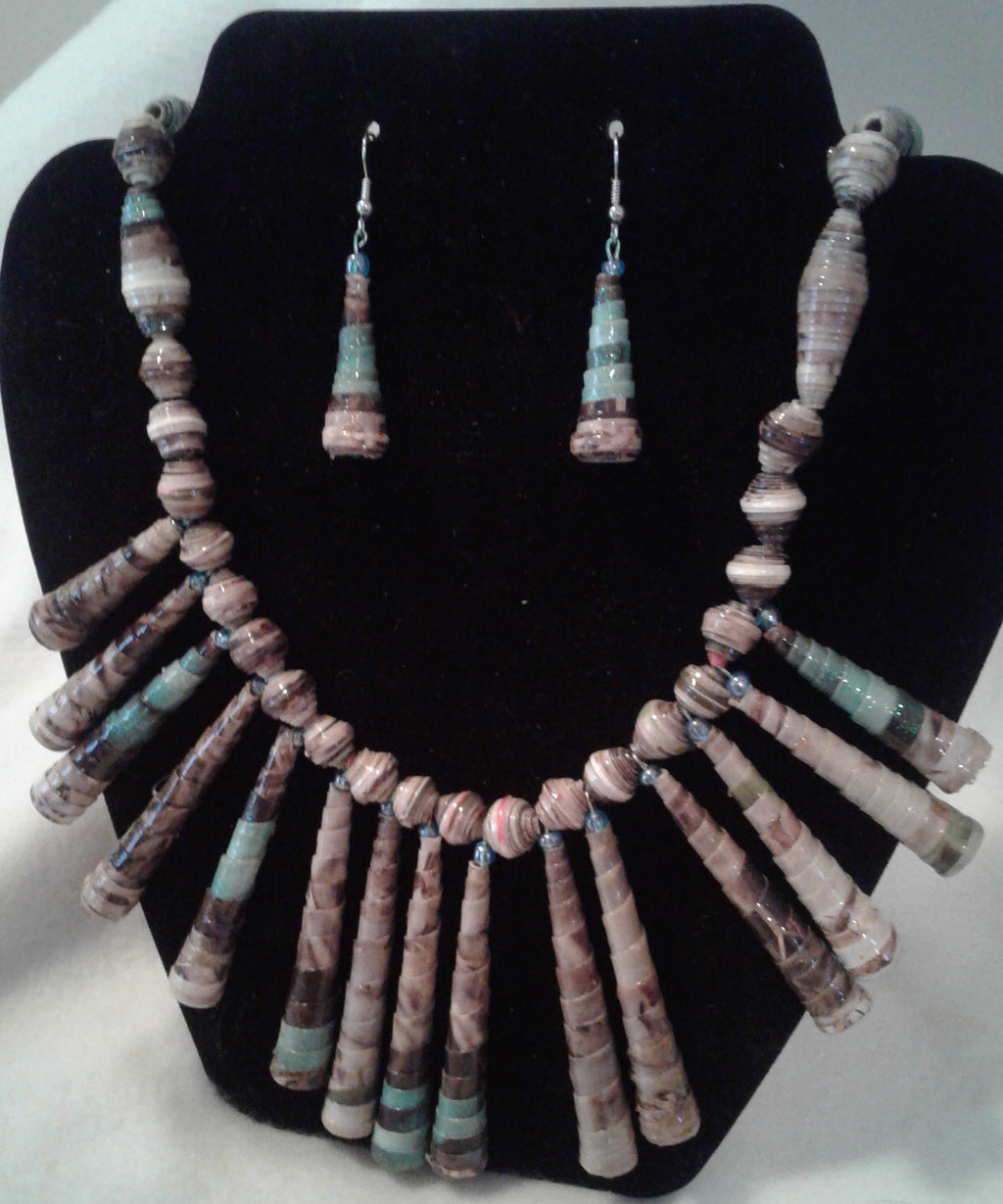 Fan Necklace and Earring Set