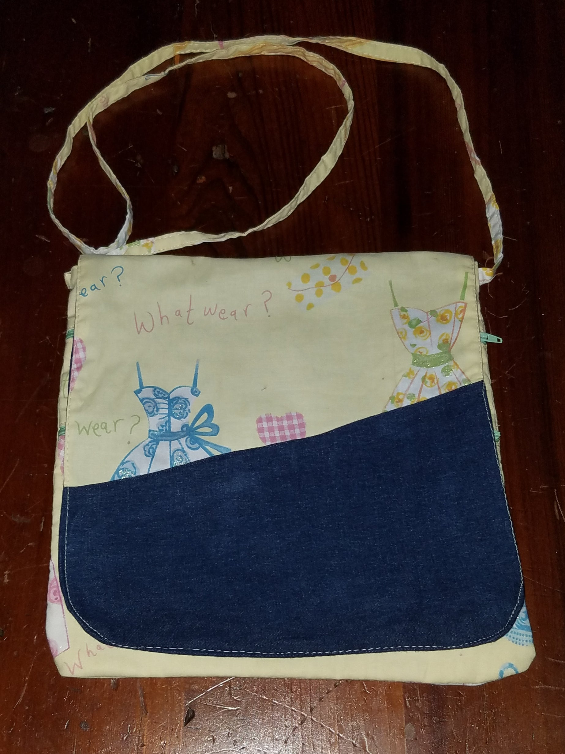 Recycled Jeans- Cross Body Travel Bag