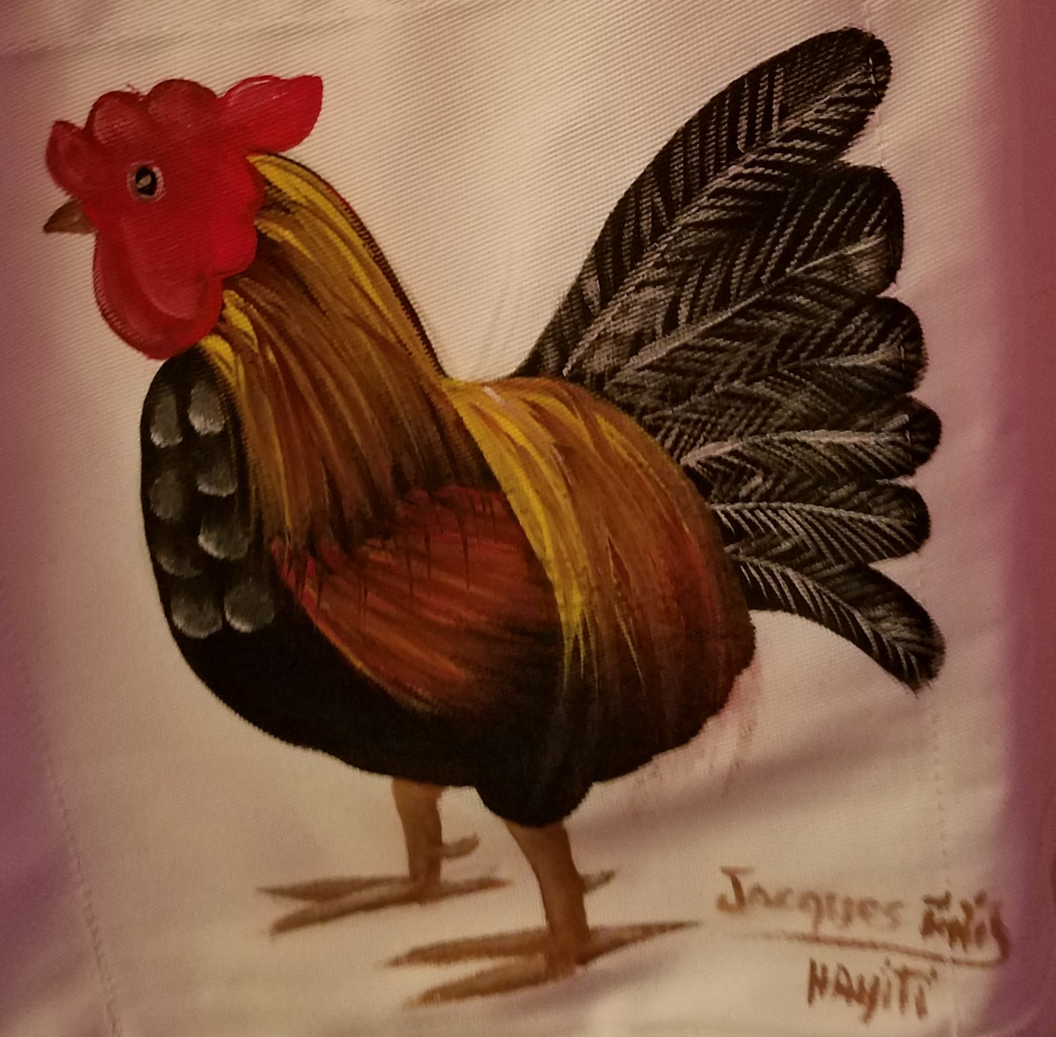Hand Painted Chicken Apron