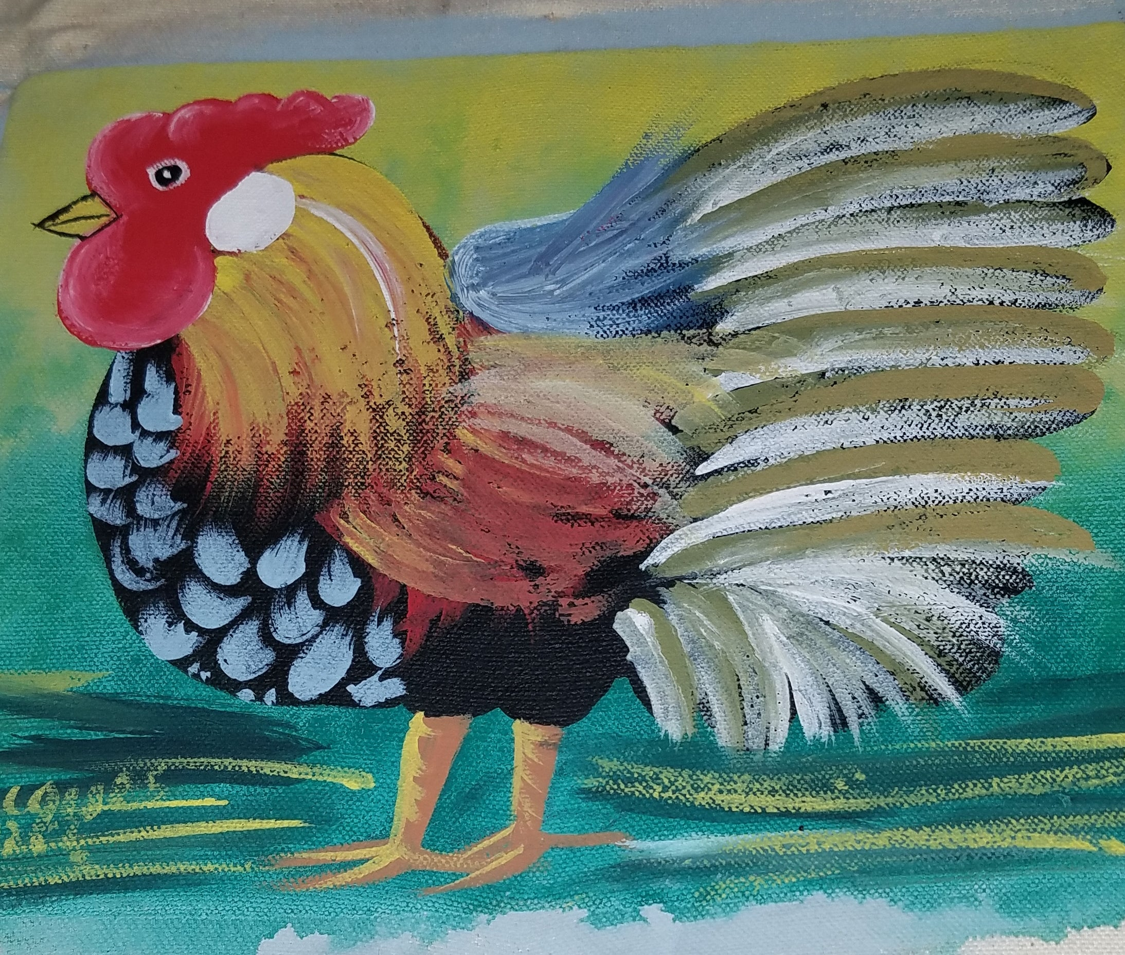 Haitian Chicken Painting