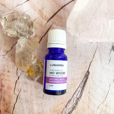 Therapeutic Ho Wood Essential Oil Infused with the Energies of Lithium Quartz 15ml
