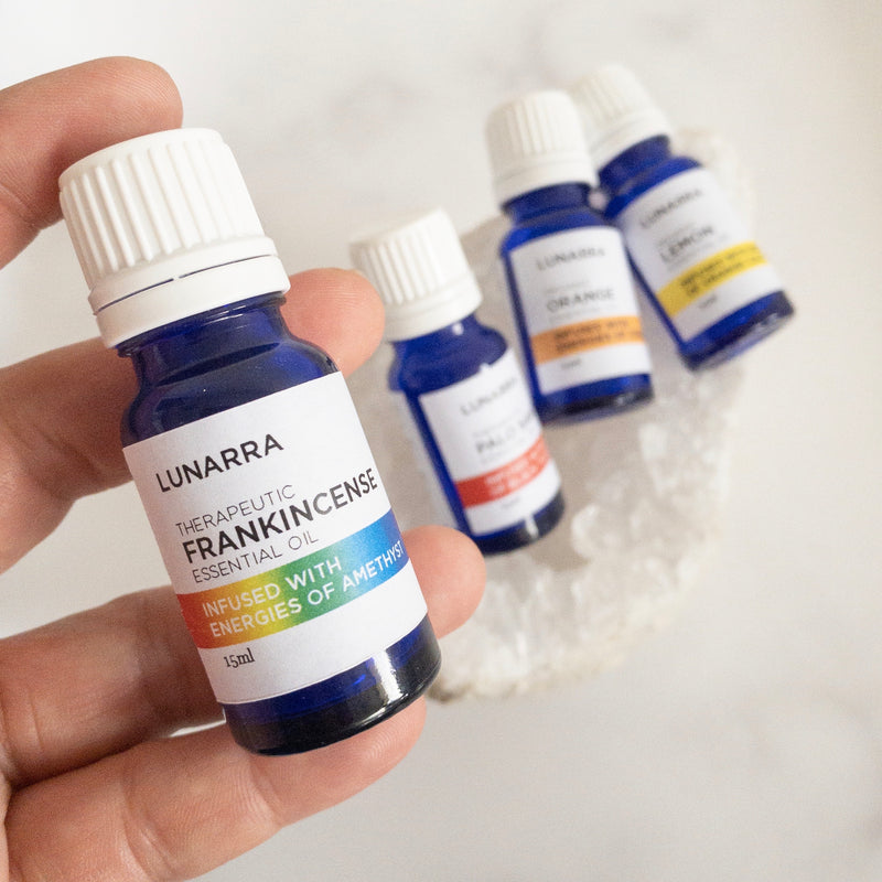 Therapeutic Frankincense Essential Oil Infused with the Energies of Amethyst 15ml