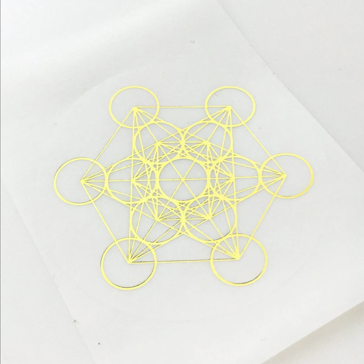 Metatron's Cube Pack of 4 Stickers
