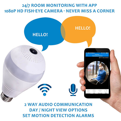 360 HD Panoramic Smart Home Camera Secret