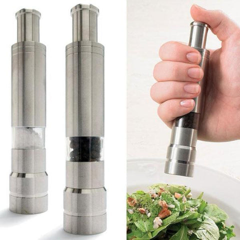 Click on - One-Hand Stainless Click Grinder