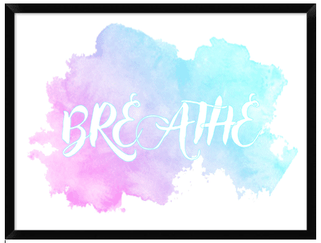 Breathe Art Print - Hypnobirthing Journey