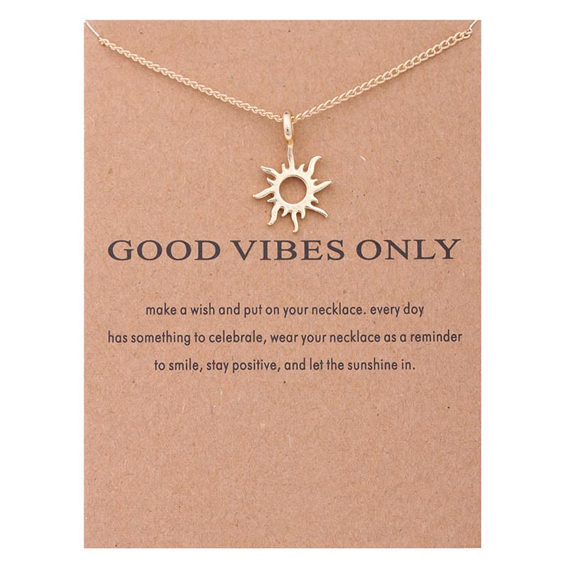 Good Vibes Necklace - Hypnobirthing Journey