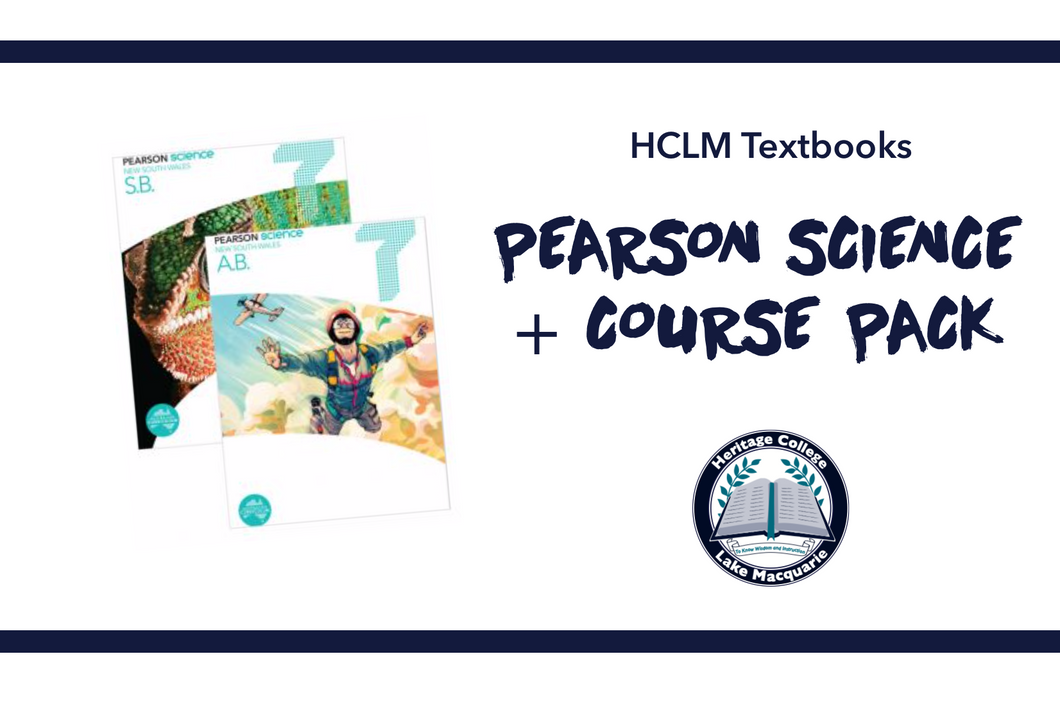 PEARSON SCIENCE + WORKBOOK PACK - Year 7