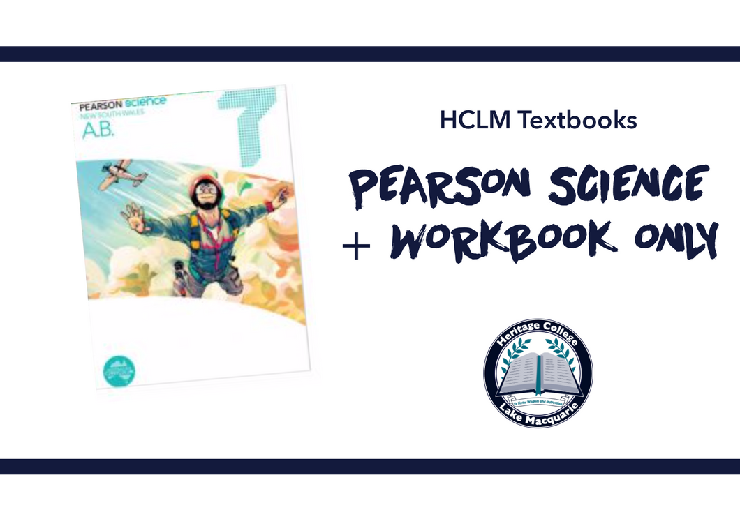 PEARSON SCIENCE WORKBOOK ONLY - Year 7