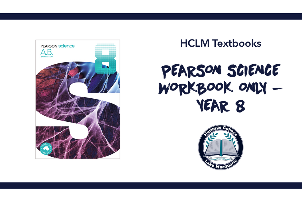 PEARSON SCIENCE WORKBOOK ONLY - YEAR 8