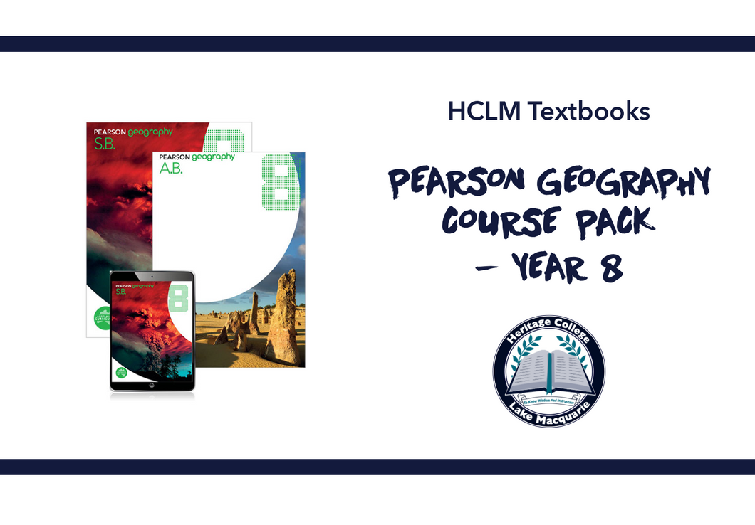 PEARSON GEOGRAPHY COURSE PACK - YEAR 8