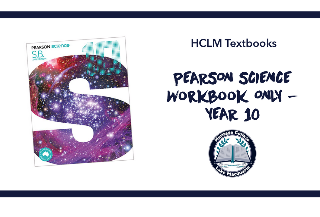 PEARSON SCIENCE + WORKBOOK ONLY - YEAR 10