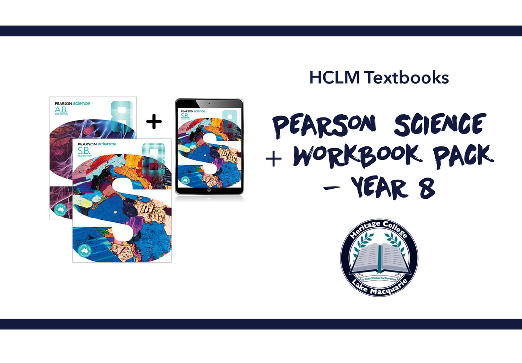 PEARSON SCIENCE + WORKBOOK PACK - YEAR 8