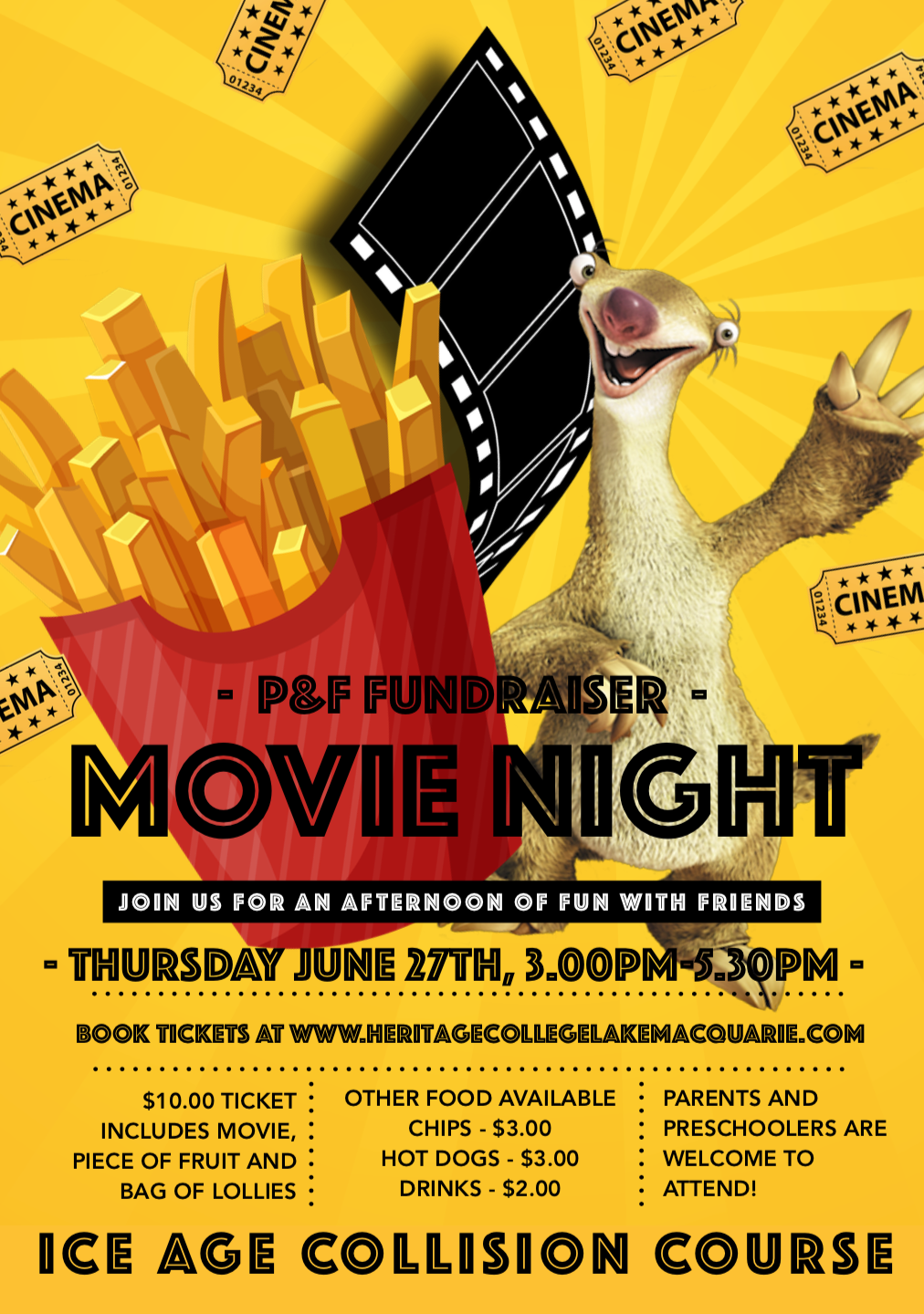 P&F FUNDRAISER - MOVIE NIGHT TICKET
