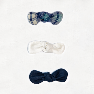 Small Hair Bows - 3 Pack Winter Mixed
