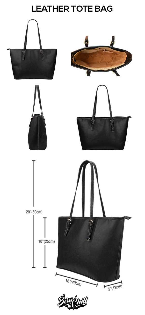 Size Chart Leather Tote Bag