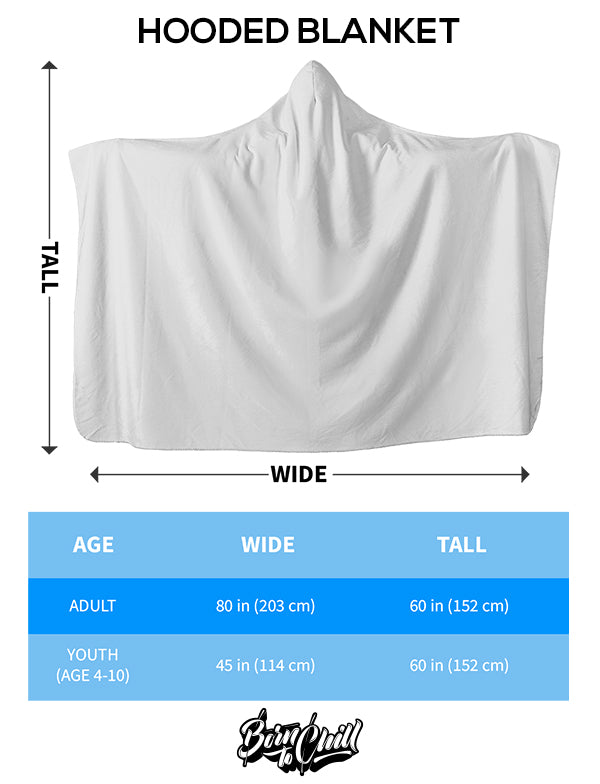 Size Chart Hooded Blanket