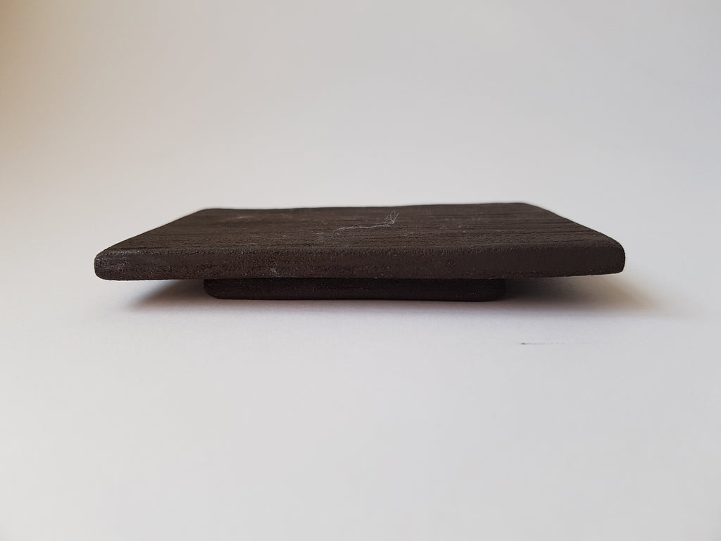 Simple Black Earthstone Soap Dish