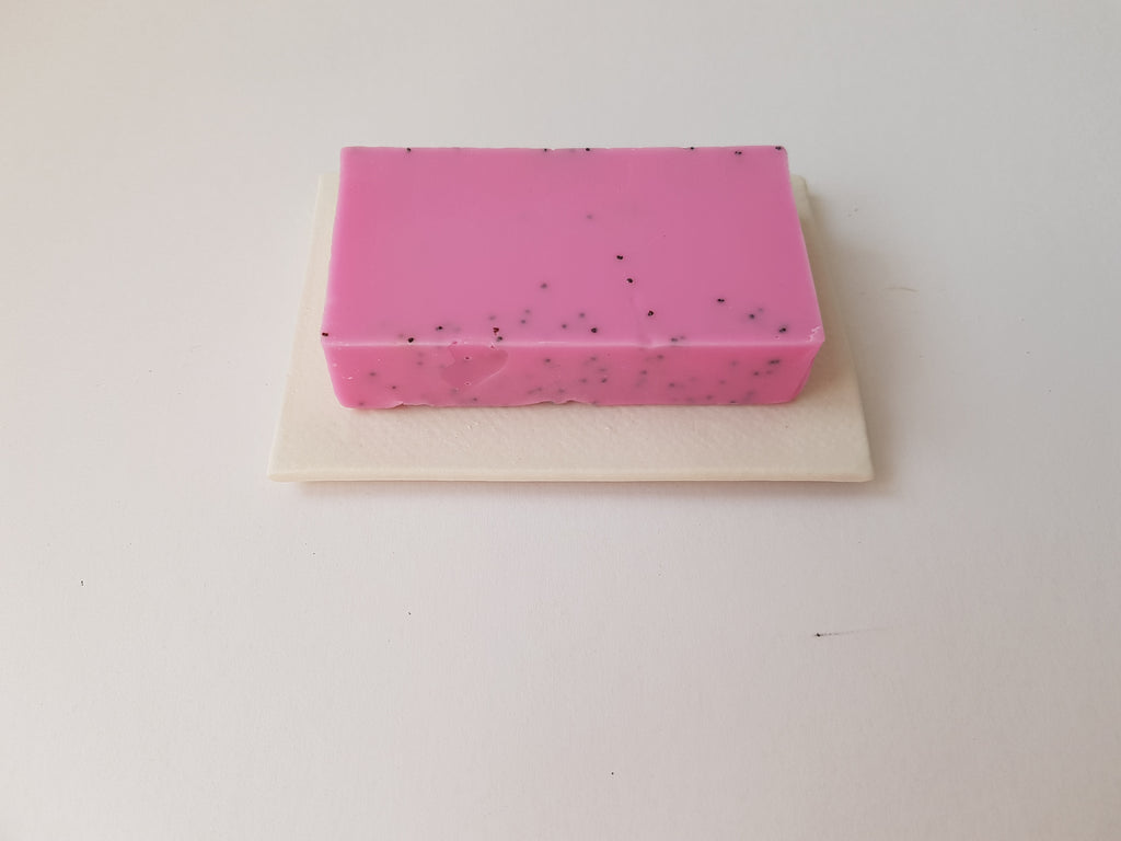 White with Strawberry Soap