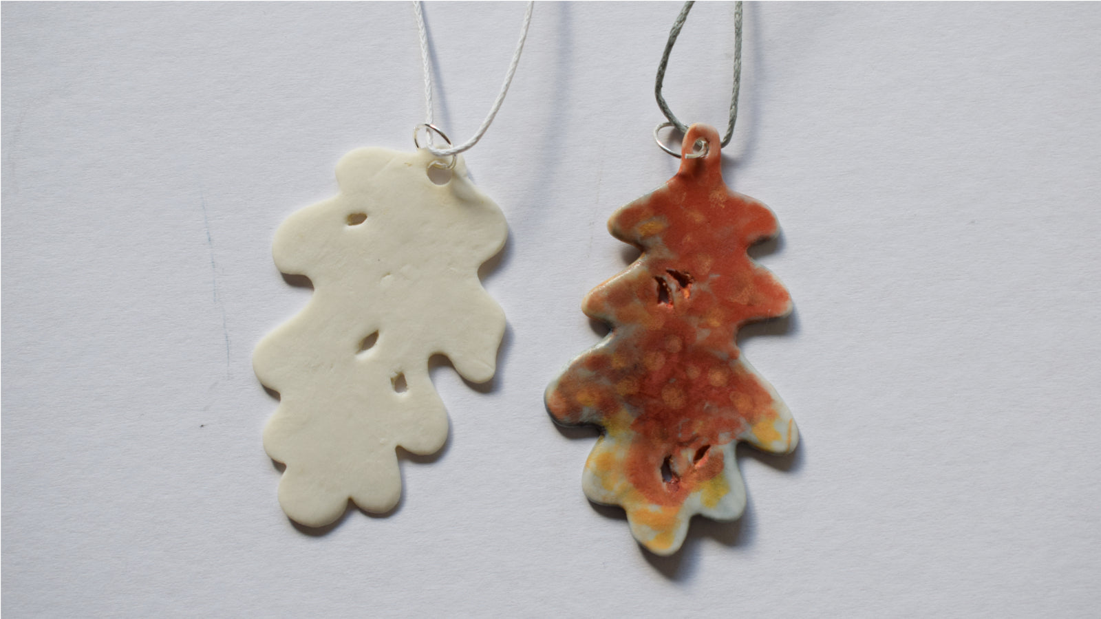 Wide Oak Leaf Pendant