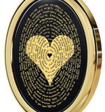 """I Love You"" in 120 Languages - Gold imprint on black Onyx gemstone"