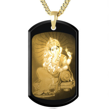 Ganesha Gold picture on Gemstone
