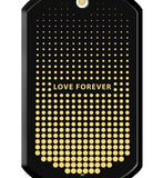 Love Forever - Gold Imprint on Black Onyx Gemstone