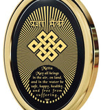 Metta Prayer - Gold imprint on black Onyx gemstone