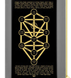 Kabbalah 10 Spheres - Gold Imprint on Black Onyx Gemstone