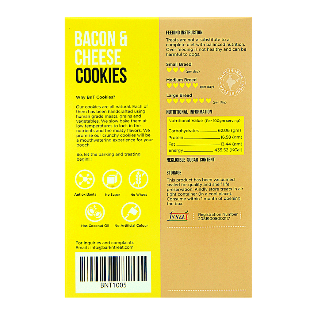 Bacon & Cheese Dog Cookies