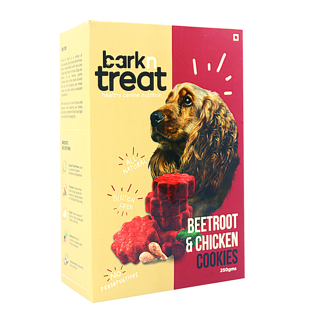 Beetroot & Chicken Dog Cookies