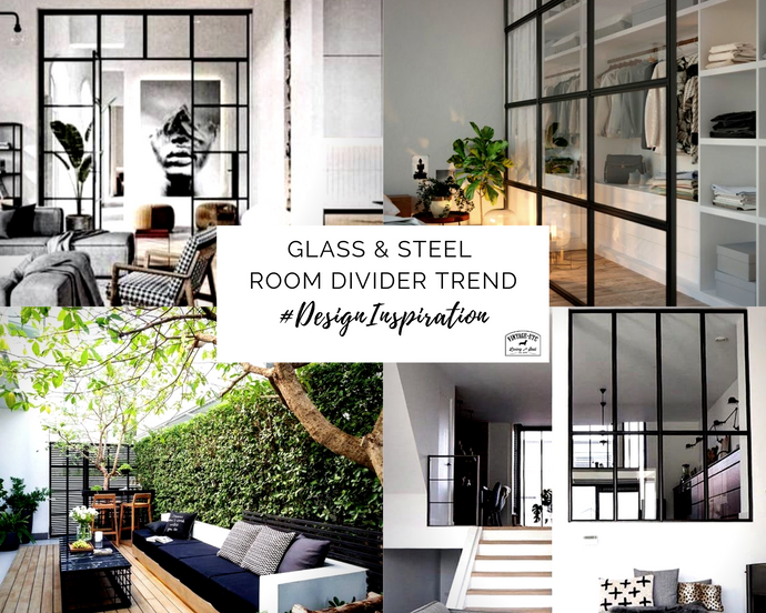 The glass & steel room divider trend – Chic, versatile & bold