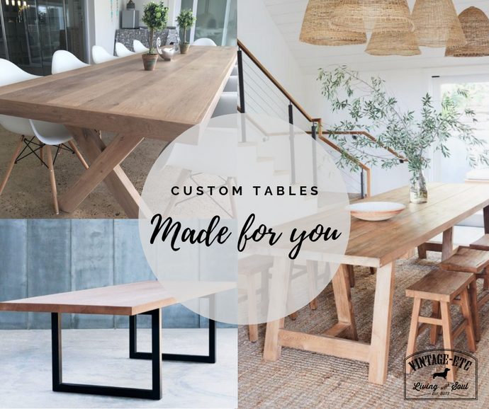 We're changing, see our custom made tables