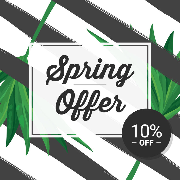 2017 Spring offer : 10% off voucher