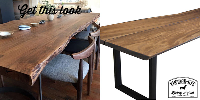 Get this look: Live Edge Table