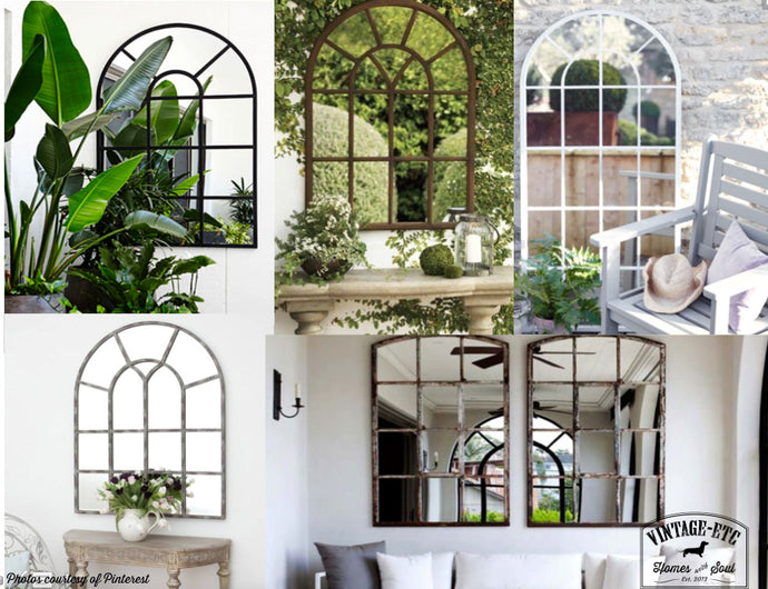 See how designers are using mirrors in outside spaces