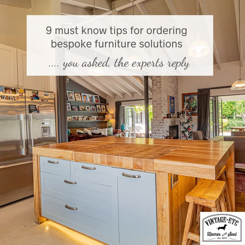 Top 9 question on ordering custom order furniture - money saving tips from the experts at Vintage-etc
