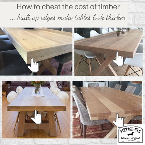 Custom and bespoke order tables - money saving tips from Vintage-etc