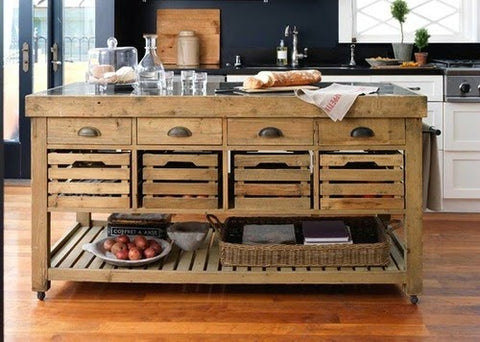 rustic country feel kitchen island